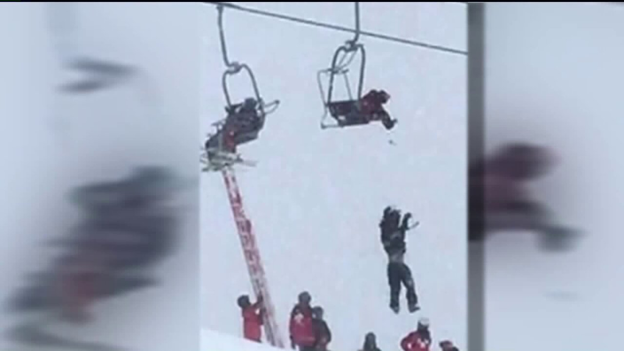 Experts discuss lift safety after several skiers get stuck hanging from backpack straps