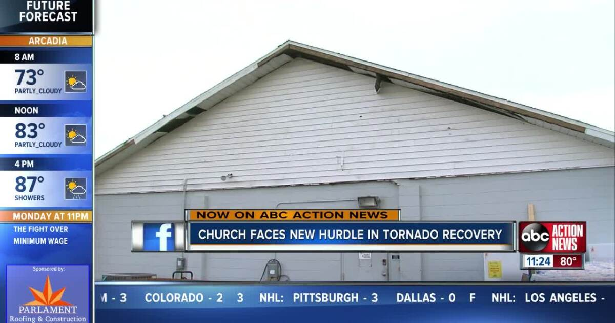 Church, families work to clean up one week after tornado