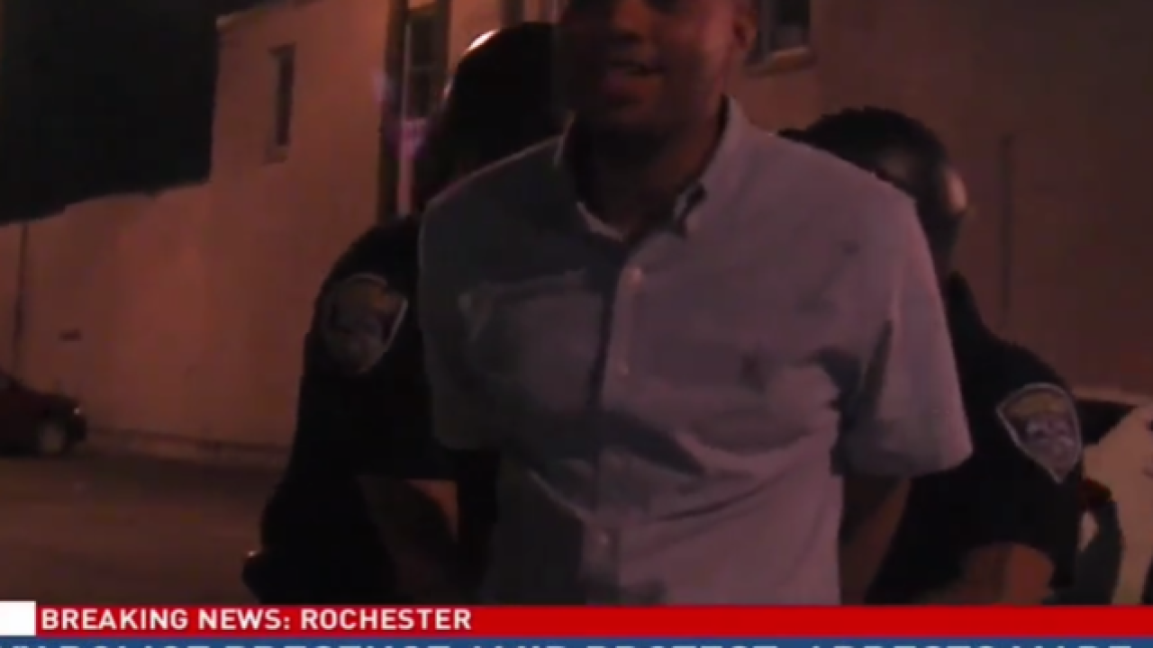 2 reporters among the dozens arrested during Rochester, N.Y. Black Lives Matter rally