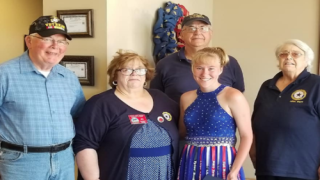 This Teenager's Gorgeous Prom Dress Pays Tribute To Fallen Marines