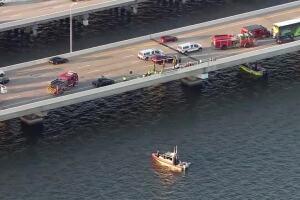 Crash sends vehicle into water on SB Howard Frankland Bridge, sparking massive traffic delays