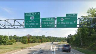 196 EB sign at Lake Michigan Dr Google Street View.JPG