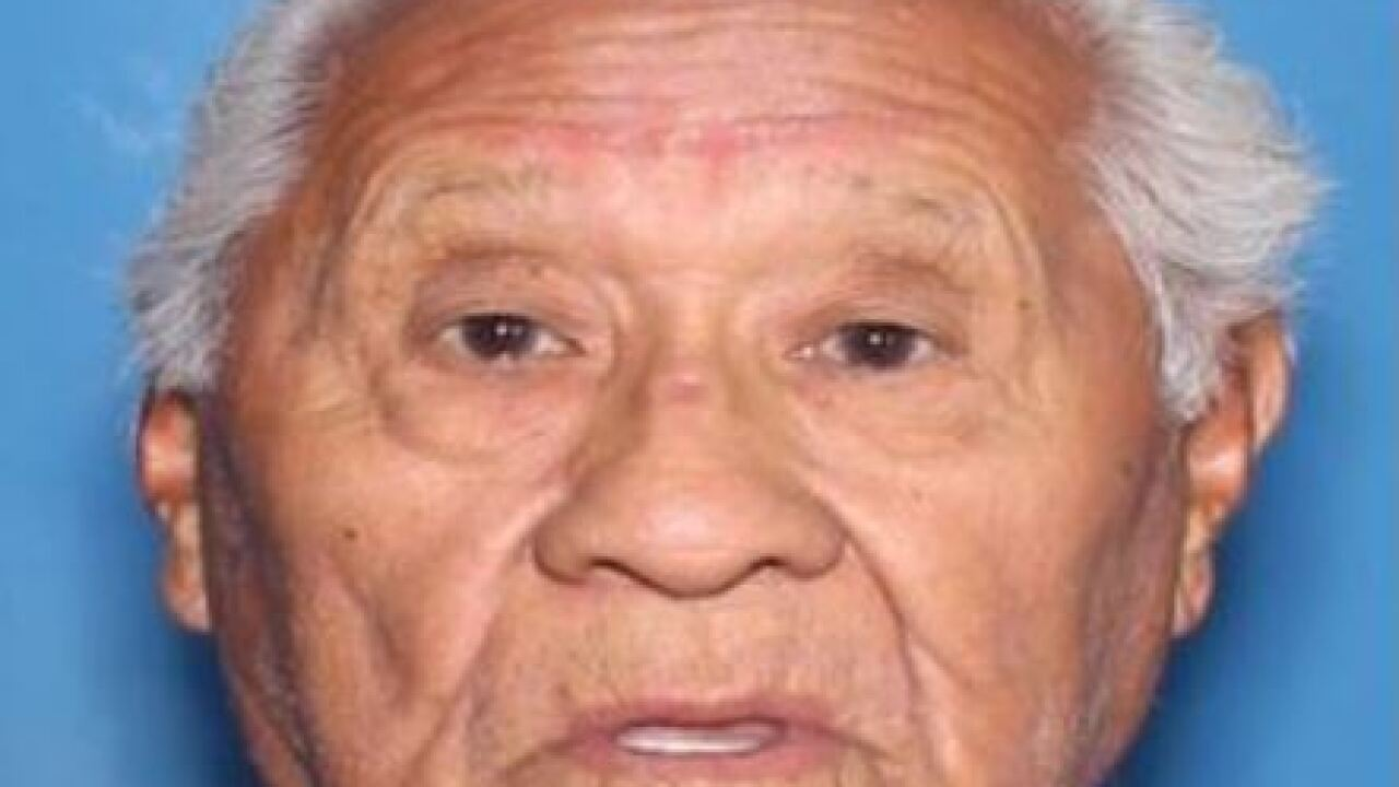Eduardo Narvaez, 89, was last seen at 8:30 p.m. Nov. 18 in the 400 block of west 3rd Place in Eloy. He was driving  a blue 2013 Toyota Corolla with Arizona license plate BDS4820.