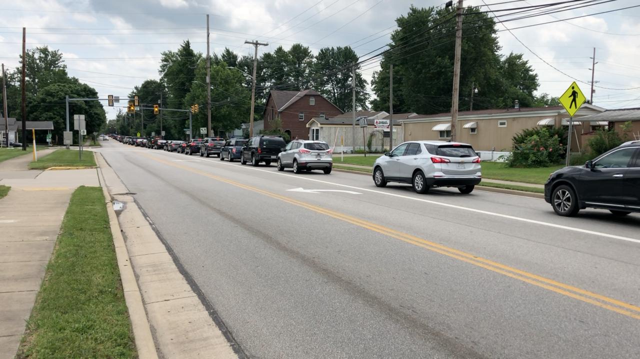 Traffic jams on the way to Trump's rally