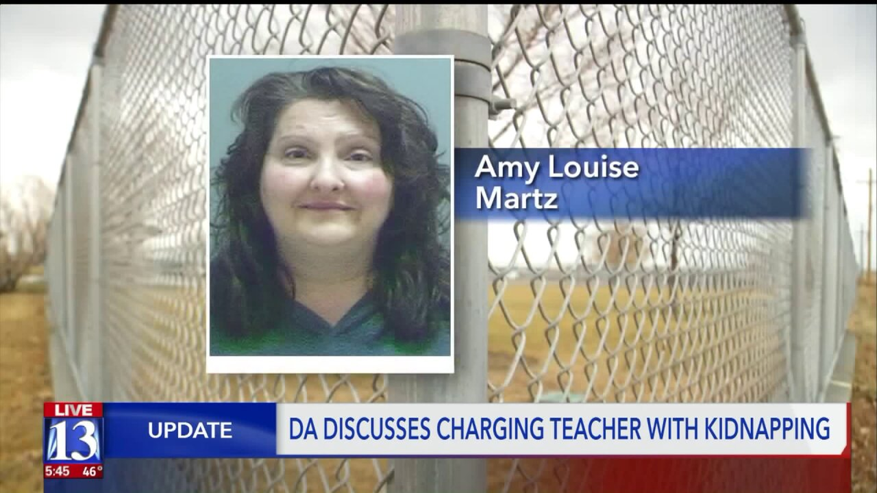 Teacher accused of kidnapping a child in WestJordan