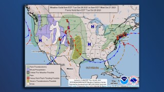 Map of US wx Oct 26 2021