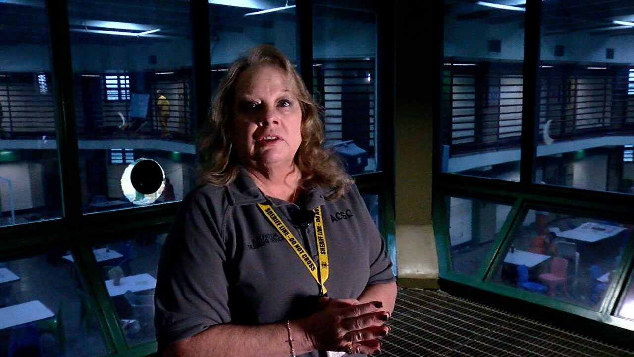 Deb Arthur in the Arapahoe County Detention Facility