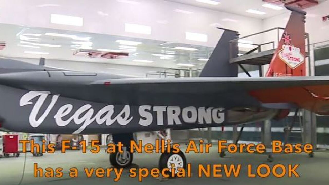 NAFB unveils Vegas Strong fighter jet