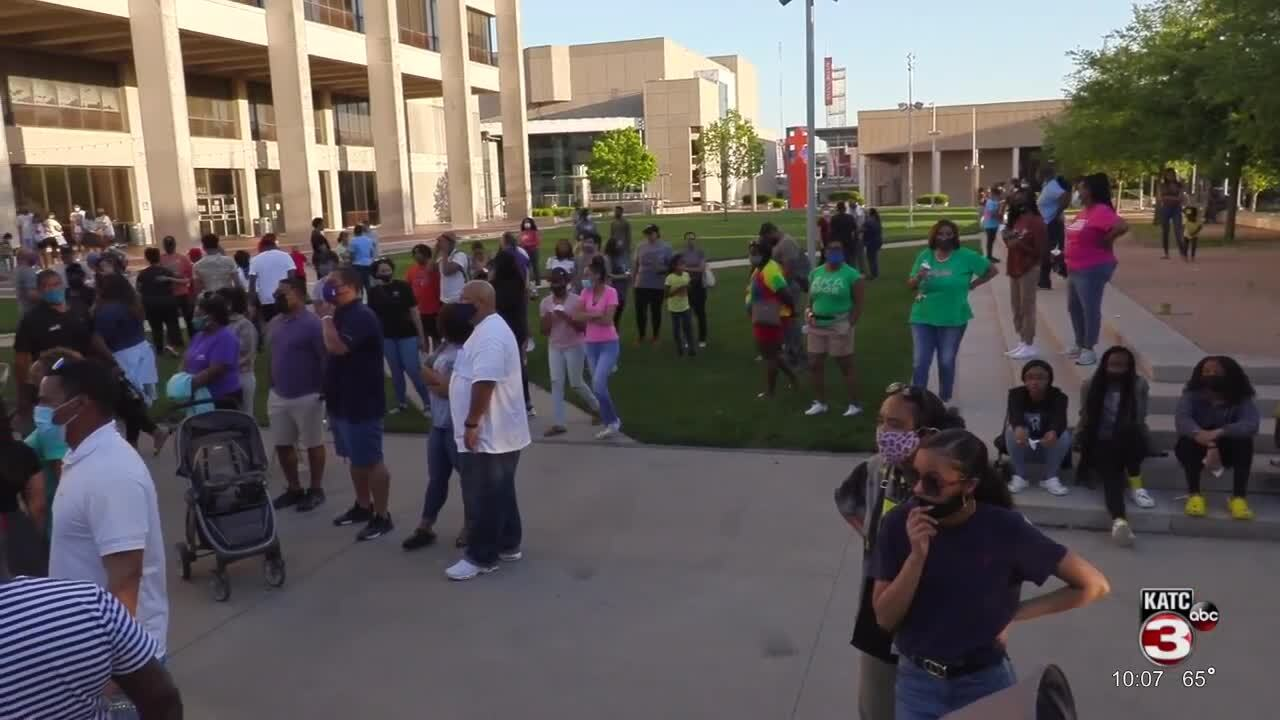 Gauthier Prayer vigil Baton Rouge