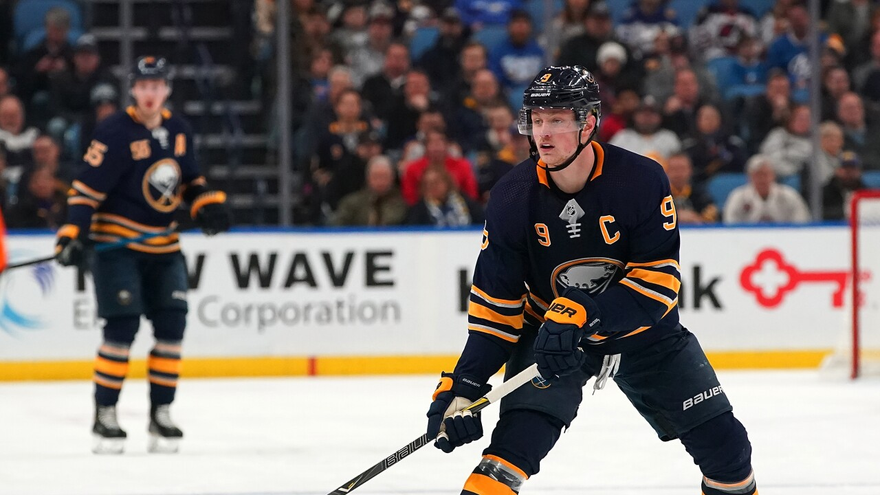 Jack Eichel scores twice in Sabres loss to Oilers