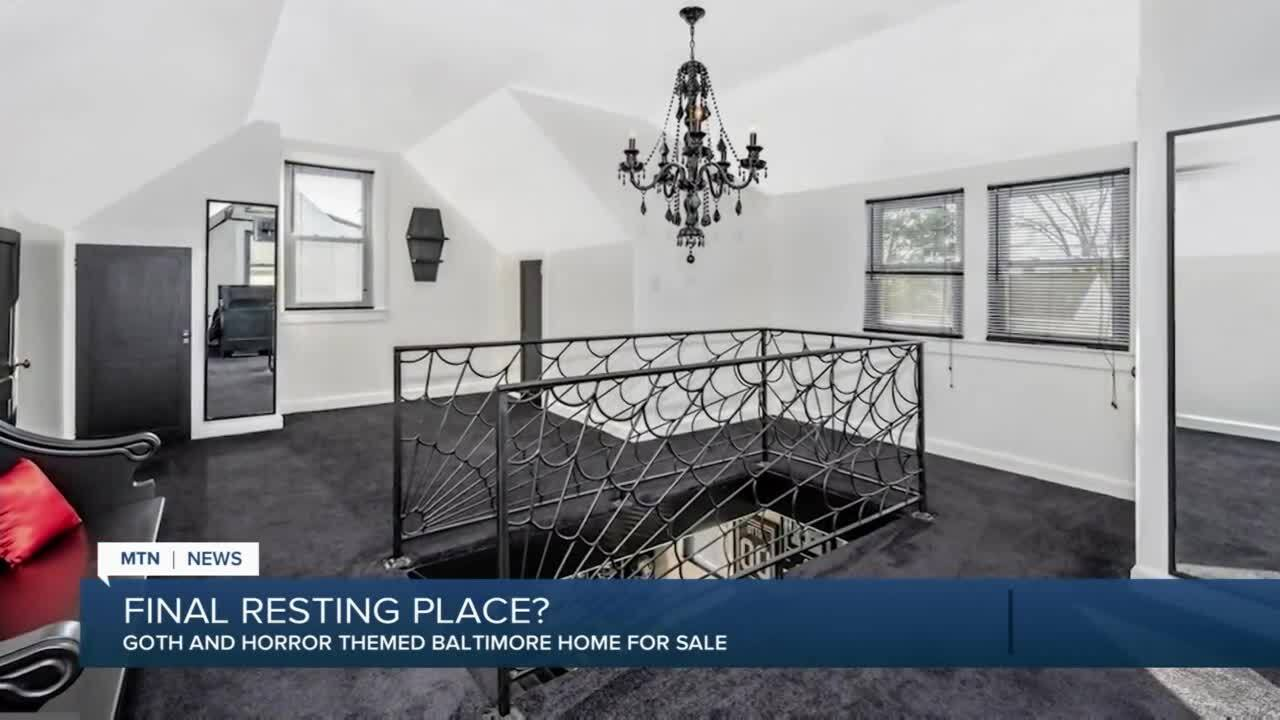 """""""Goth/horror""""-themed house for sale"""