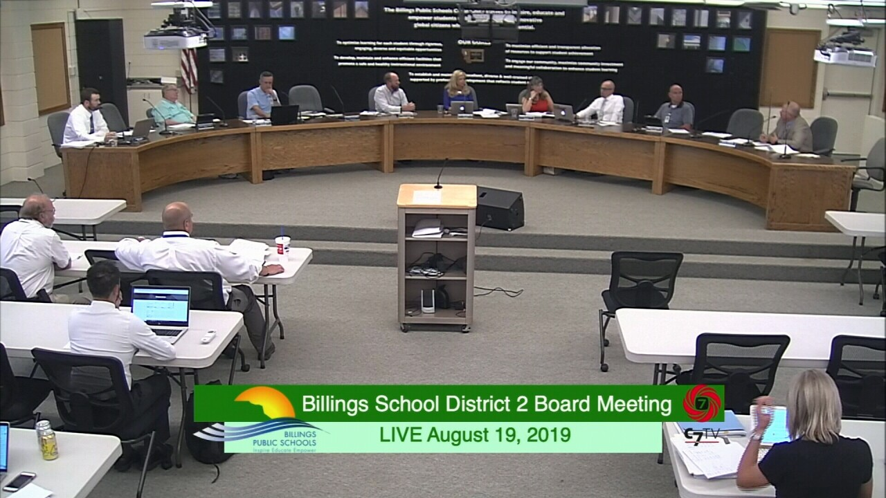 Billings School District Two School Board Meeting