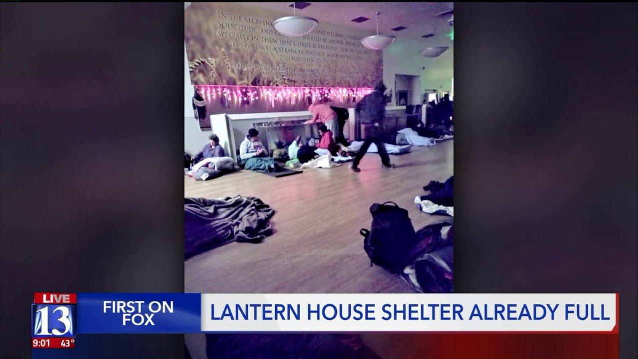 Ogden homeless shelter at fullcapacity
