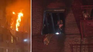 2 injured in Brooklyn apartment fire