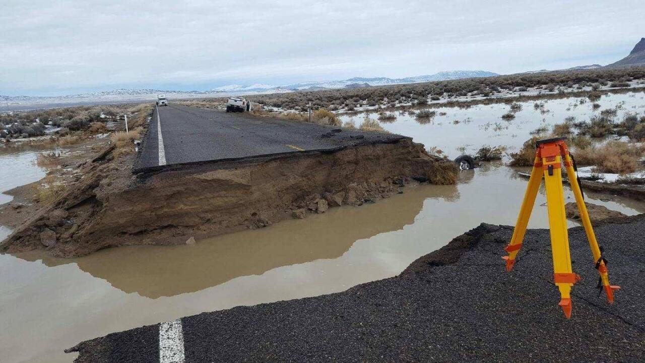 Earthen dam fails near Montello as floodwaters hit near Utah-Nevadaborder