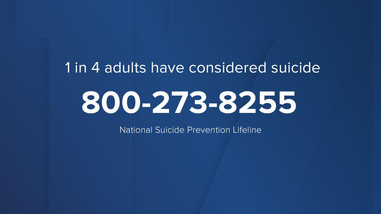 1 in 4 adults have considered suicide