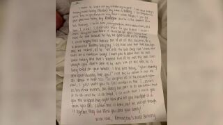 Nurse's letter to mother with COVID-19