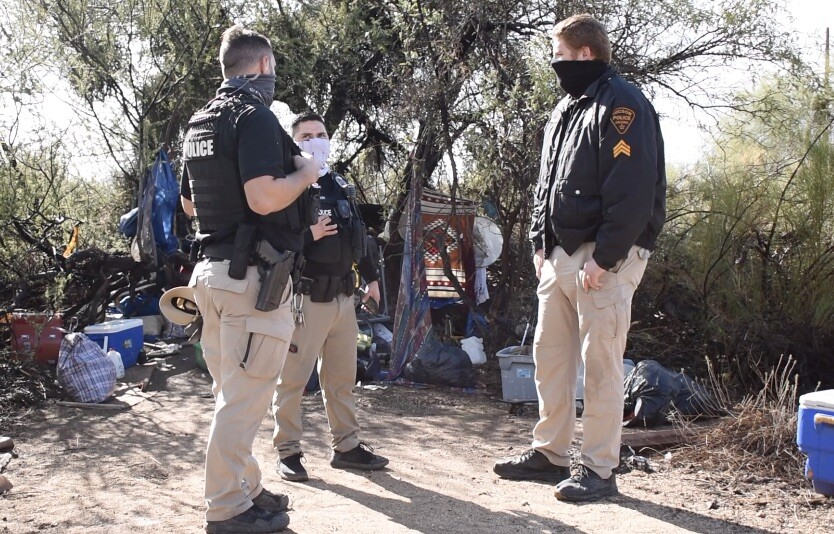 Homeless camps are popping up all across Tucson