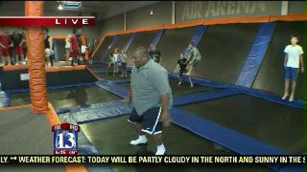 Trampolines used for fun and exercise
