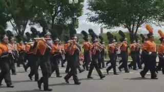 Alice HS band marches in 'National Memorial Day Parade in Washington DC