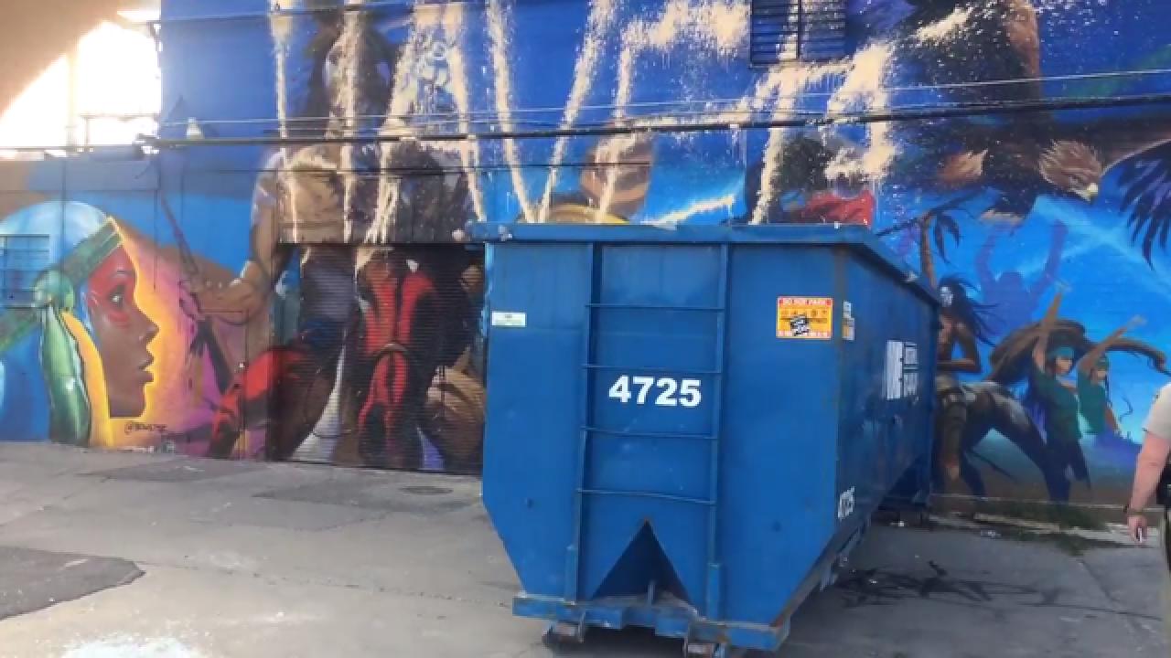 Vandals target #NoDAPL mural