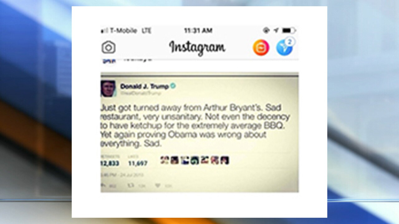 Arthur Bryant's turned away Trump? Fake news