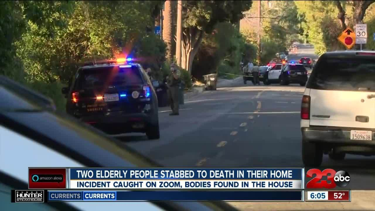 Two elderly people stabbed to death in their LA home, incident caught on Zoom