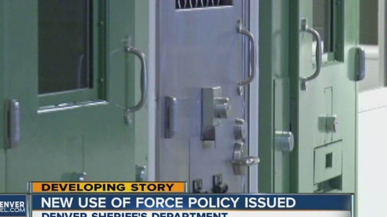 "New ""use of force"" policy for Denver jailers"