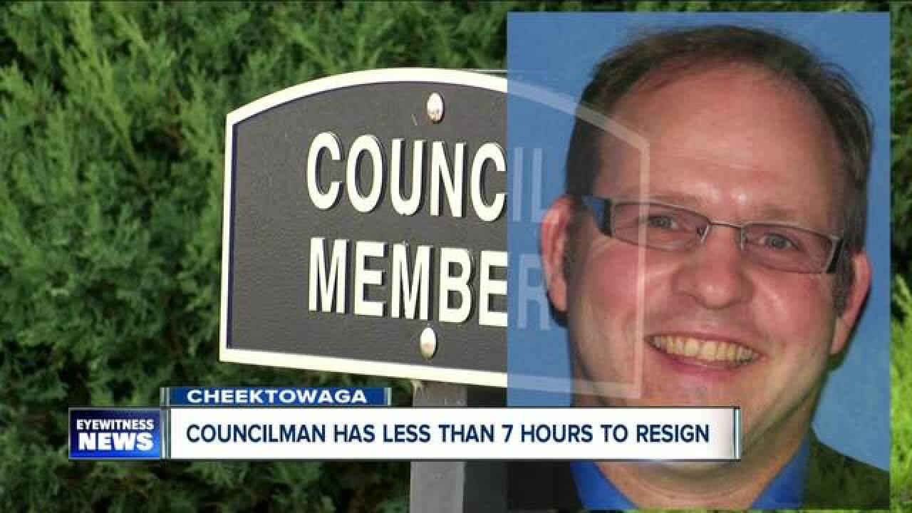 WNY councilman given 24 hours to resign