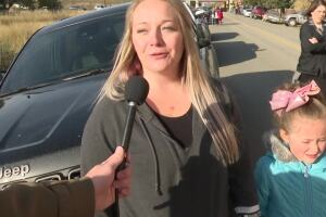 Parents react to Rossiter School evacuation