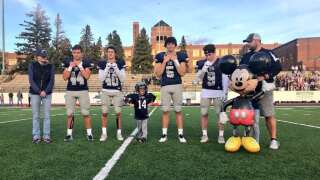 Troy's Day: Great Falls 4-year-old joins Bison football for Make-A-Wish reveal