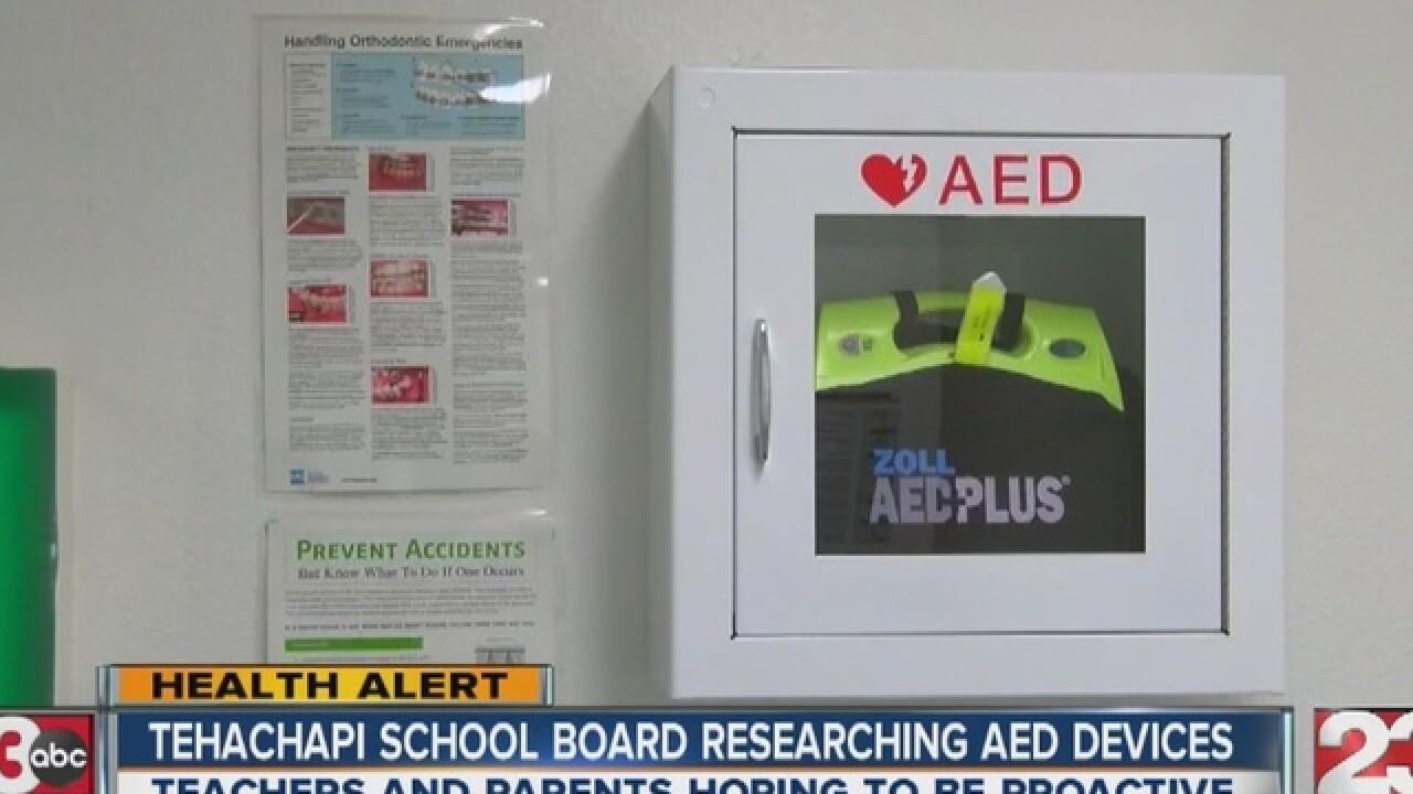 AED chances rise for Tehachapi school district