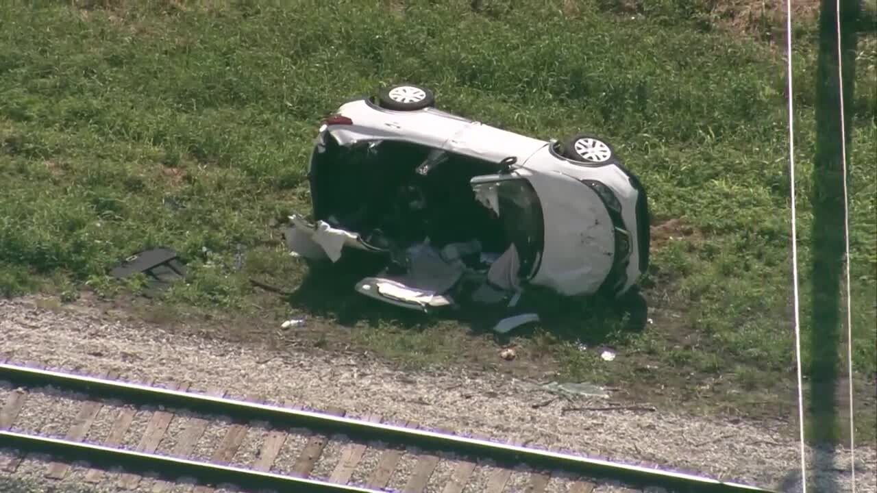 SUV on its side after train crash in western Palm Beach County