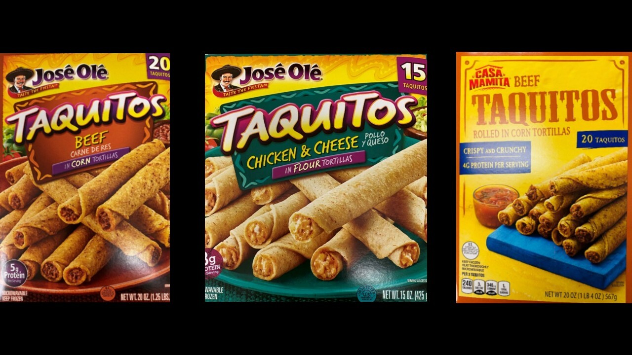 Frozen taquitos, chimichangas recalled following possible plastic contamination