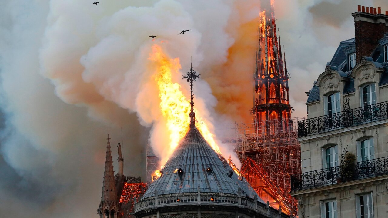 Image result for Notre Dame fire in paris