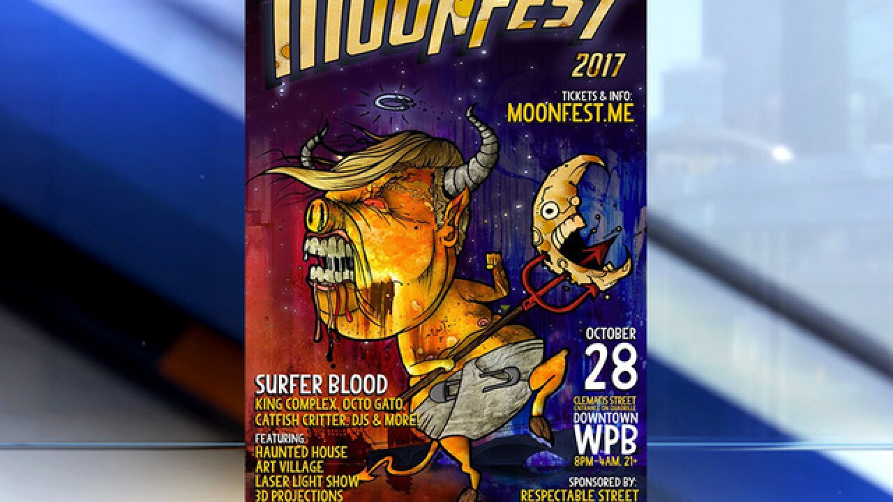 Some people find 'Trump' Moonfest 2017 poster offensive