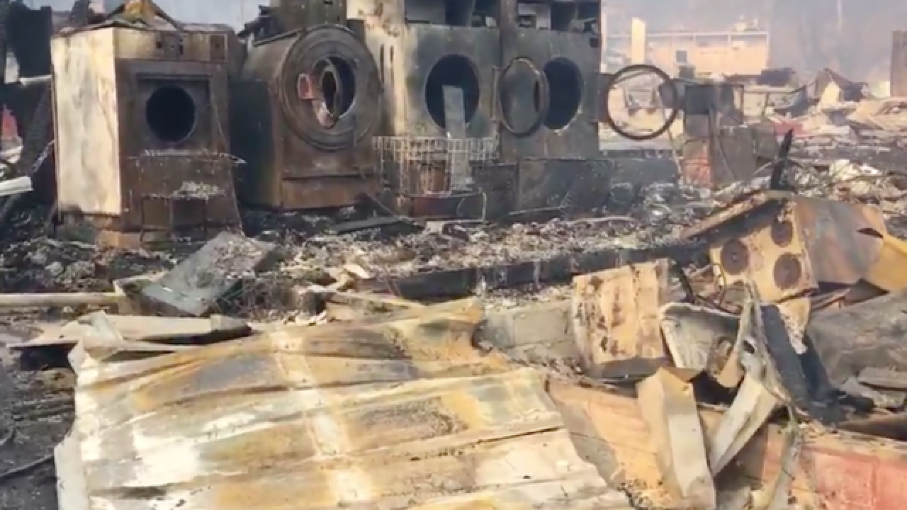 Videos shows parts of Gatlinburg devastated by wildfire