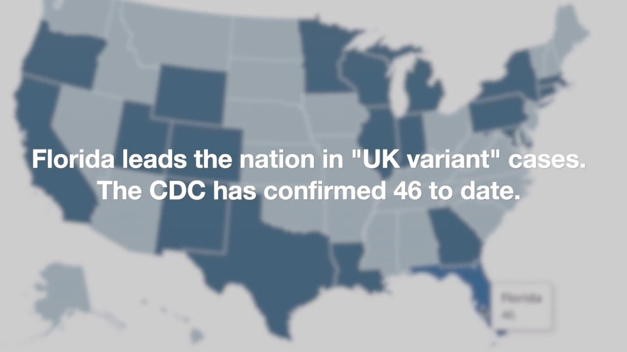 Florida leads US in UK COVID-19 variant cases