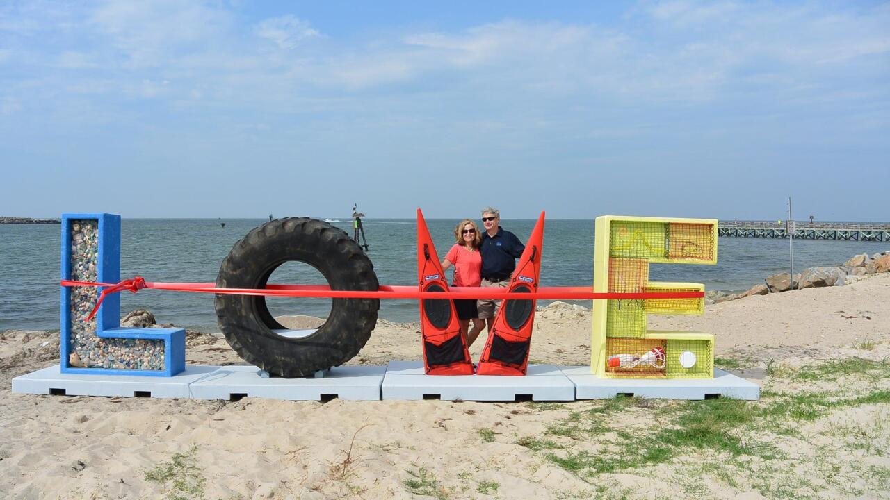 New LOVE installation in Cape Charles