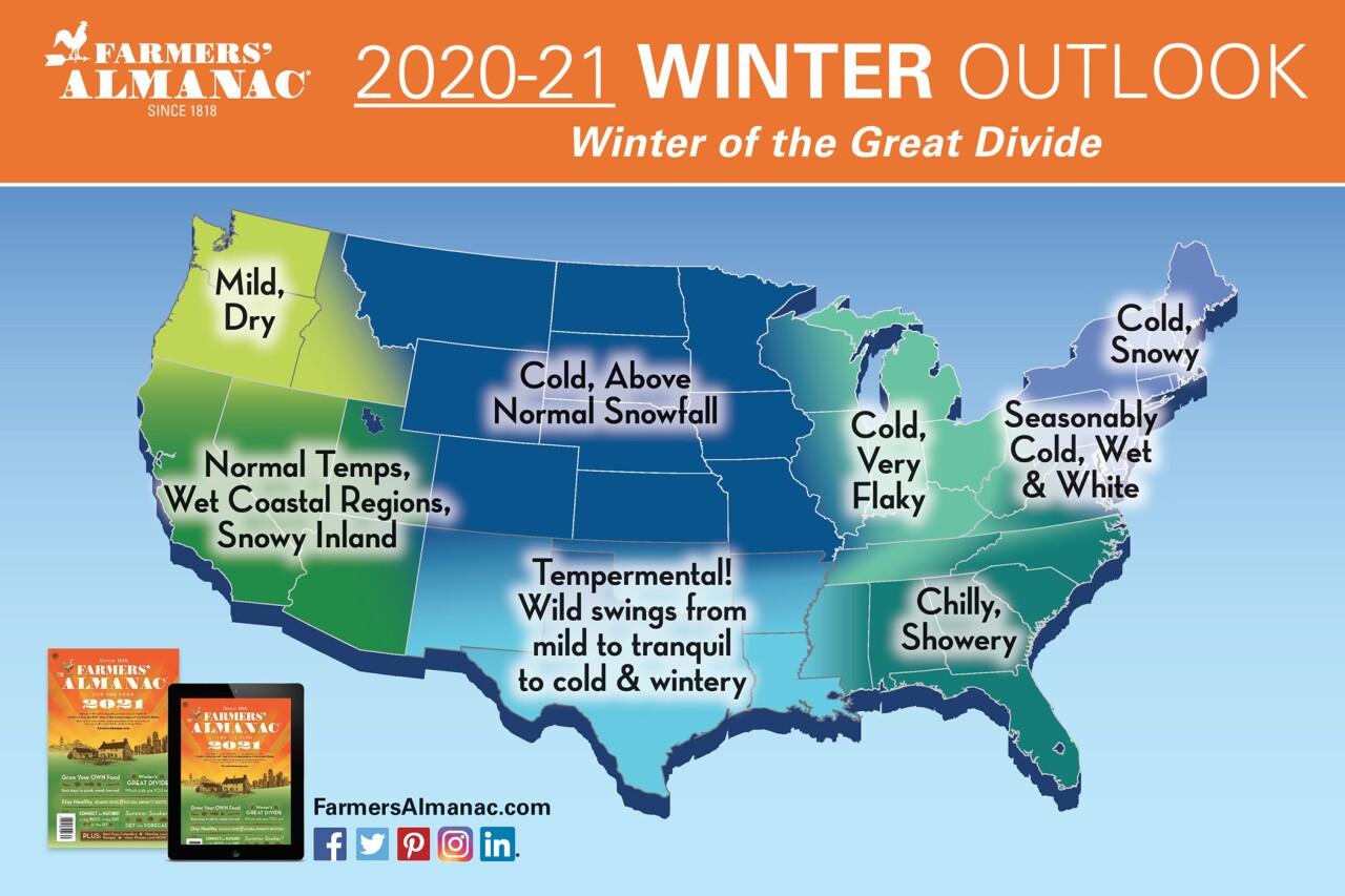 Farmers'  Almanac Winter Outlook