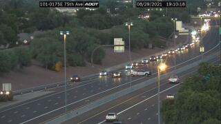 Deadly pedestrian crash Loop 101 and 75th Ave