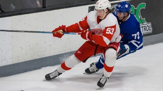 Taro Hirose, Moritz Seider lead Red Wings in win to advance to prospects tourney title game