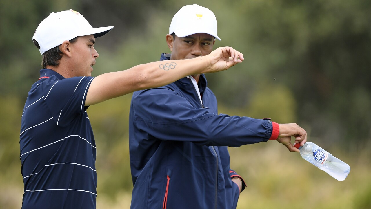 Rickie Fowler Tiger Woods is recovering well, with golf clubs by his side