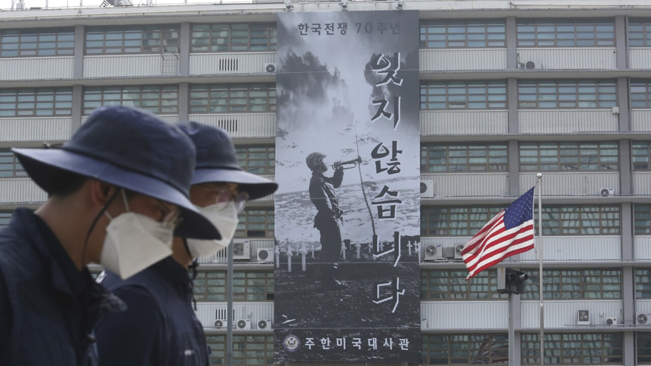 South Korea US Banner's Removal