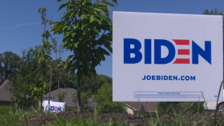 Lawn sign for Democratic Presidential candidate Joe Biden.