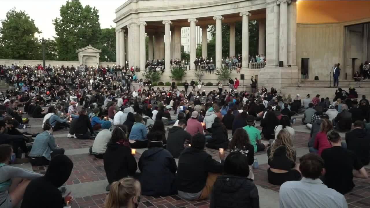 George Floyd vigil in Denver_June 9 2020