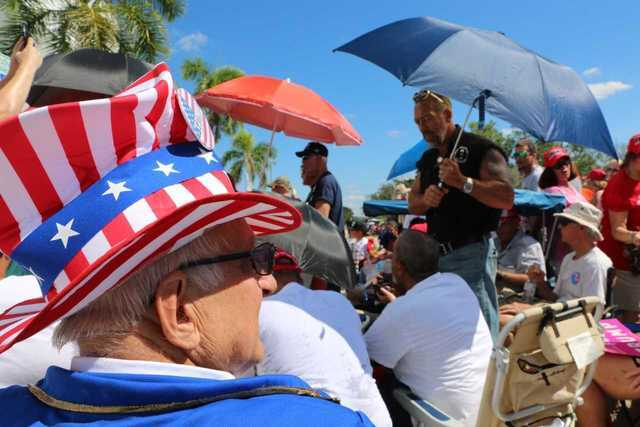 Photos: President Trump rally near Fort Myers on Halloween