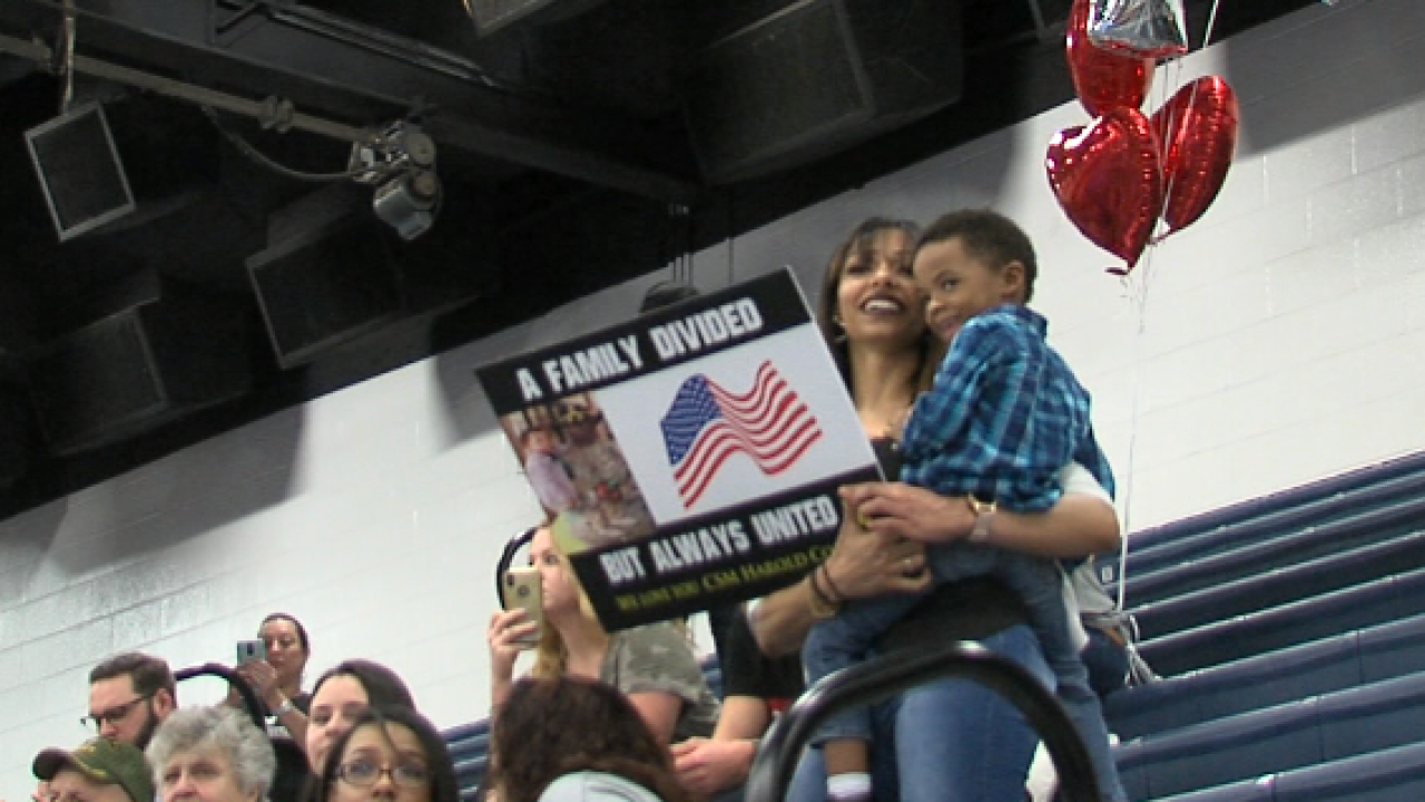 Friends, families welcome home Brave Rifles Troopers