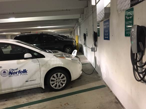 Photos: New electric car charging stations installed in 4 downtown Norfolkgarages
