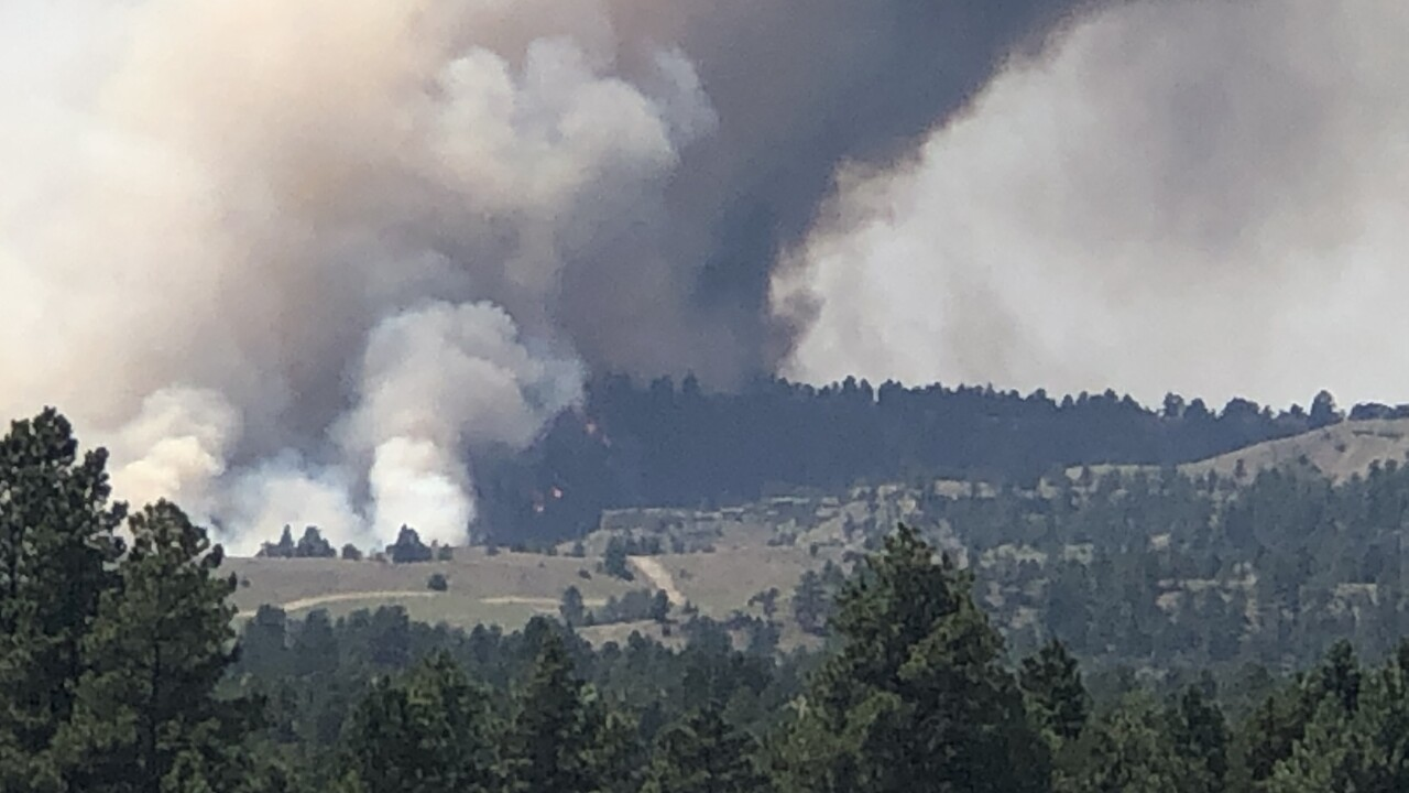 Fire reported north of Laurel